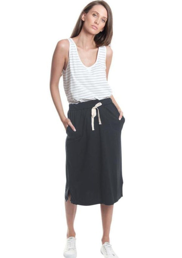 Knee Length Jersey Skirt - Miles From