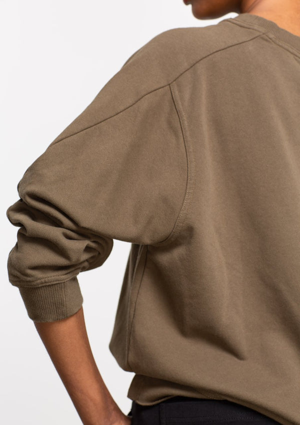 Magyar Sleeve Sloppy Joe in Khaki - Miles From