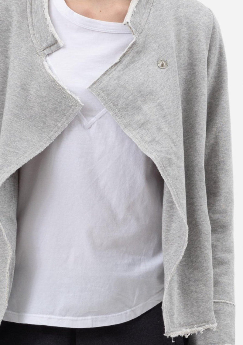 Raw Relaxed Military Jacket in Grey Marle - Miles From