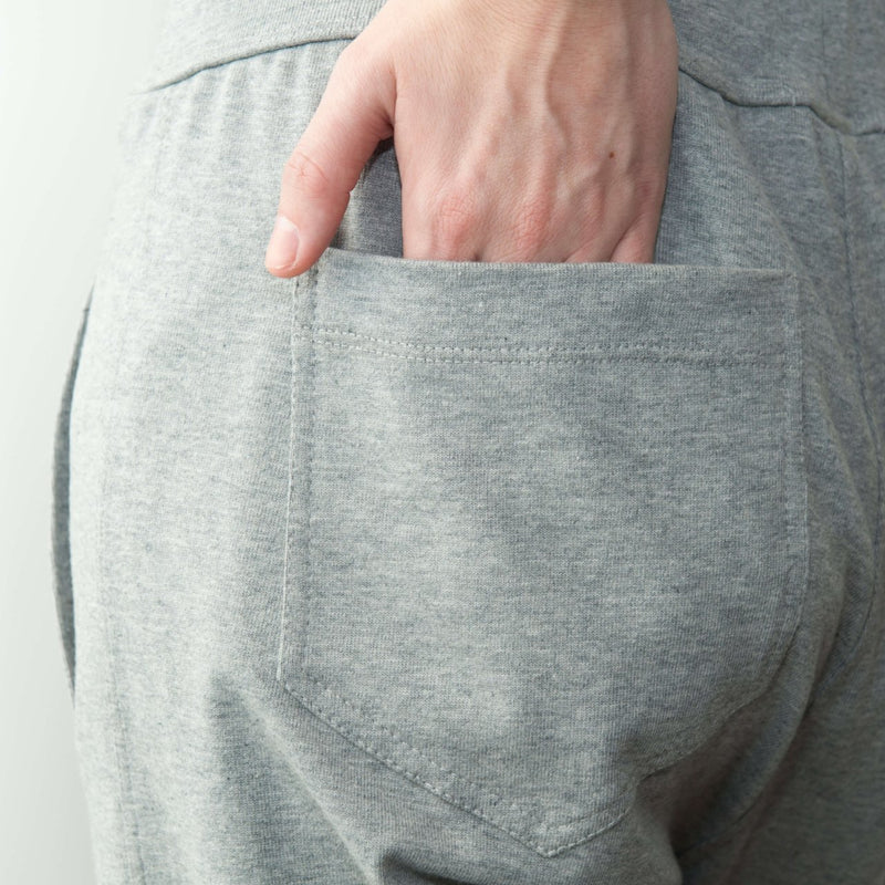 Relaxed Roll Up Pant in Grey Marle - Miles From