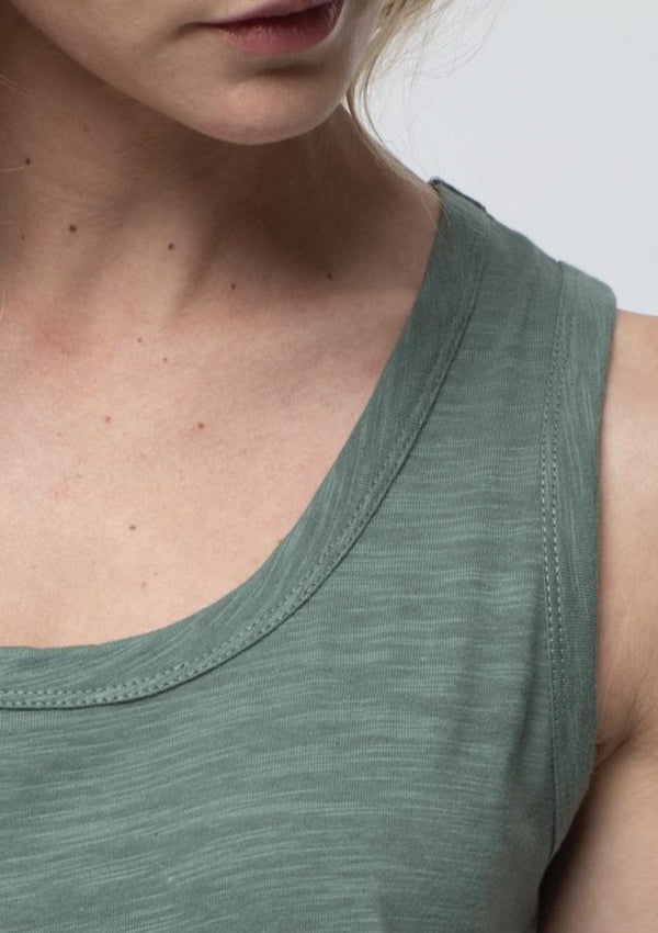 Side Split Tank in Fern - Miles From