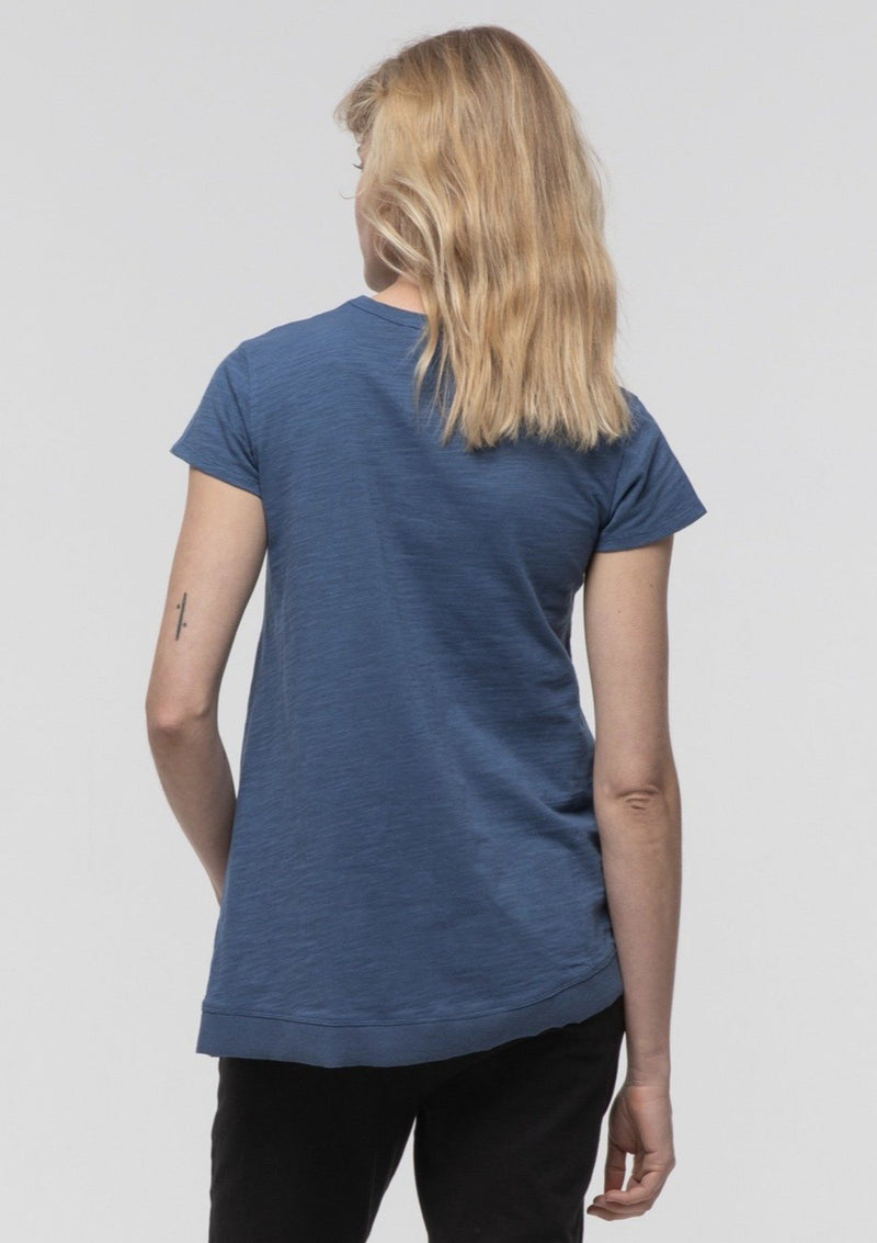 Side Split Tee in Sapphire - Miles From