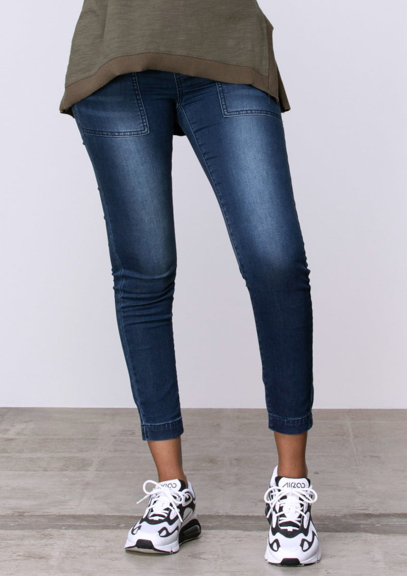 Superstretch Drawstring Skinny Jean in Dark Denim - Miles From