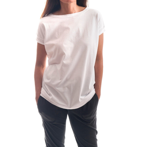 T-Shirt - Cap Sleeve V Back Tee