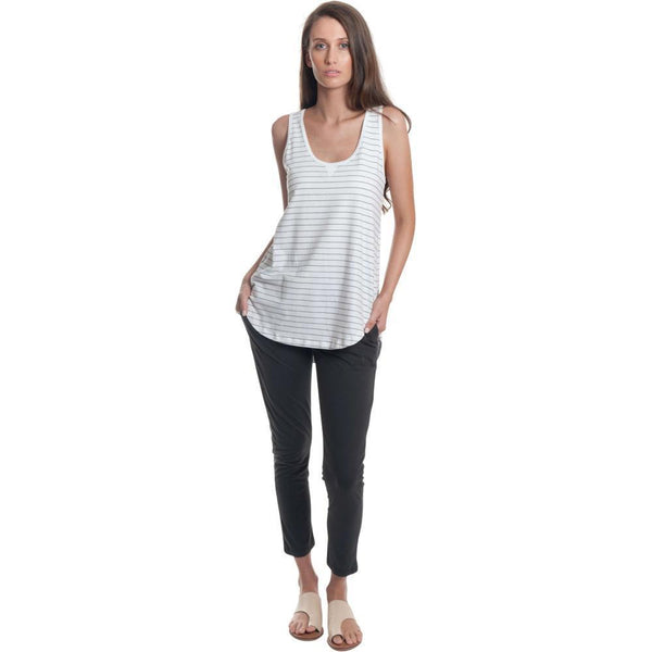 T-Shirt - Sporty Striped Relaxed Tank