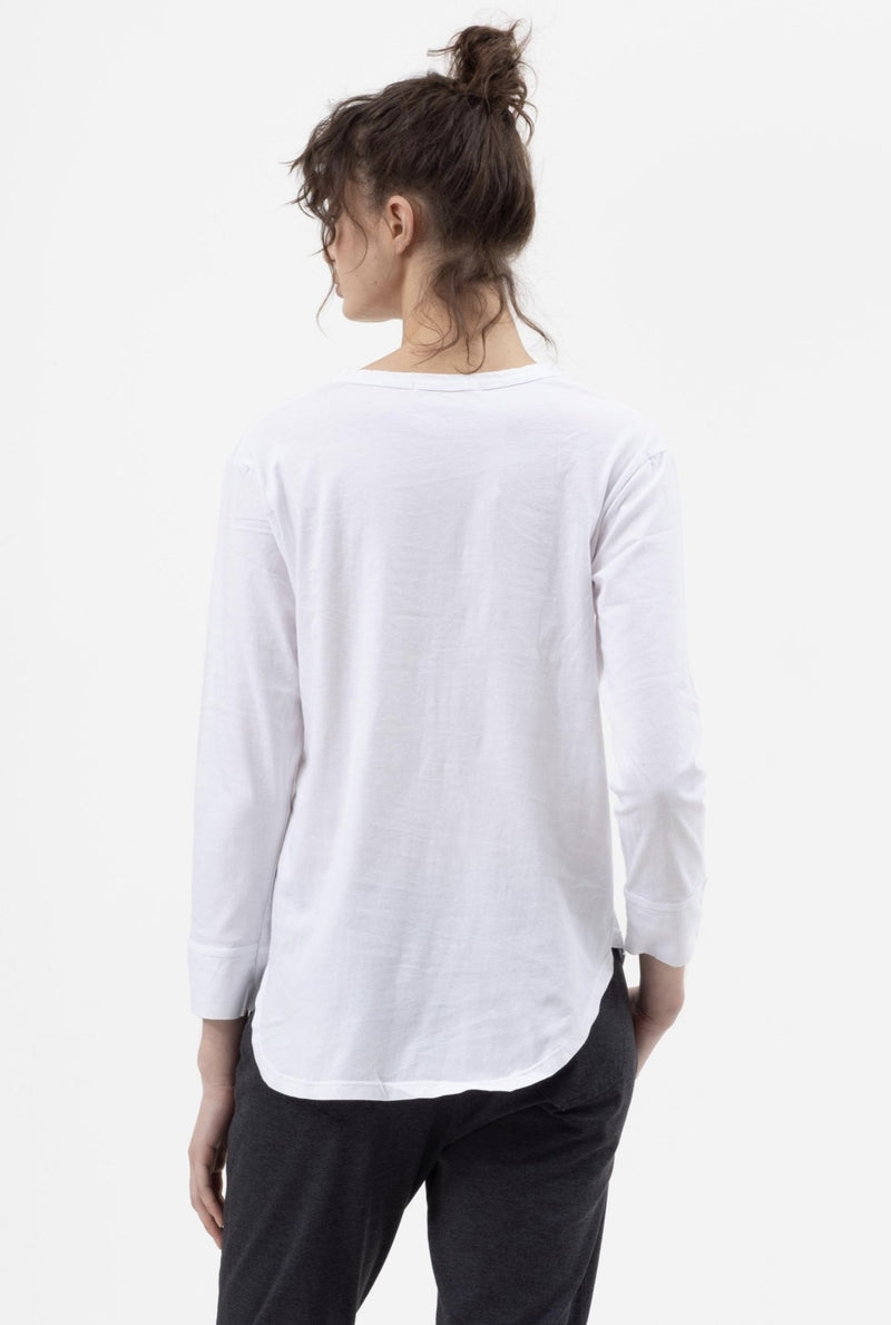 V Panel Front Tee in White - Miles From