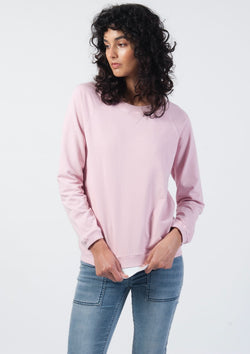 Vintage Raglan Sweat in Rose - Miles From