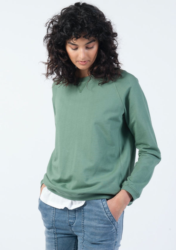 Vintage Raglan Sweat in Sea Green - Miles From