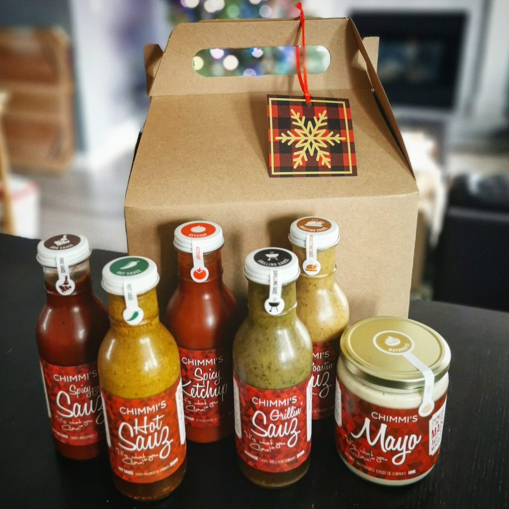 All the Things - 6 Sauces in Kraft-Colored Gable Box with Festive Tag