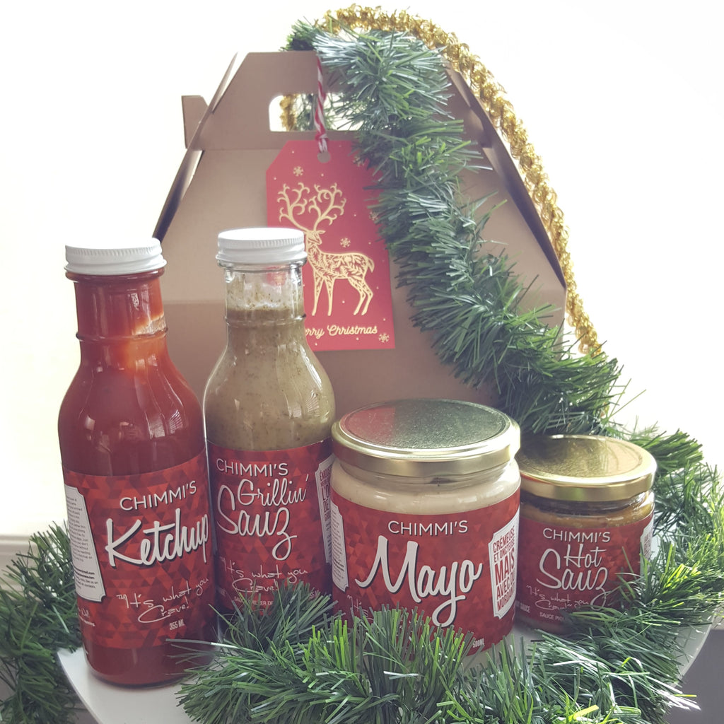 El Conquistador - 4 Sauces in Kraft-Colored Gable Box with Gift Tag