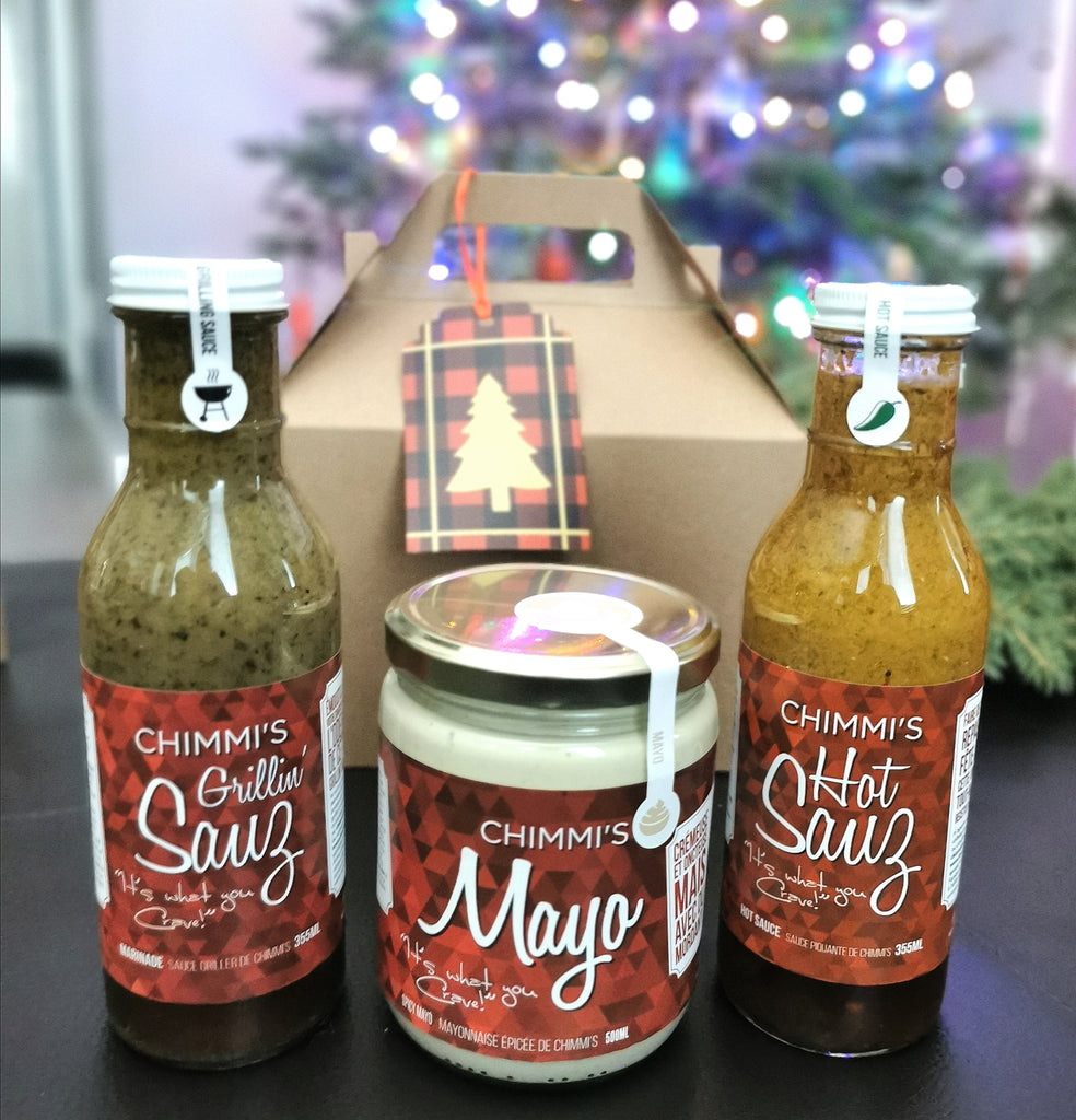 El Jefe (The Boss) - 3 Sauces in Kraft-Colored Gable Box with Festive Tag