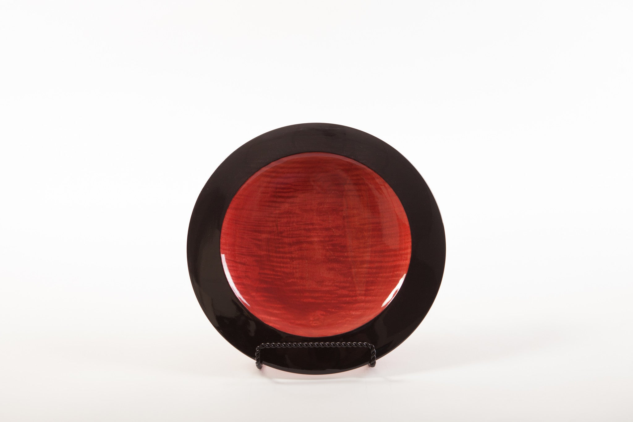 Richard Ruehle Curly Maple Red and Black Platter