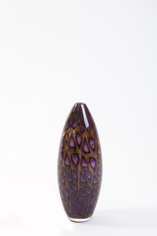 Brien Strancar Blown Glass Murrini Vase