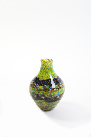 Brien Strancar Blown Glass Murrini Amphora