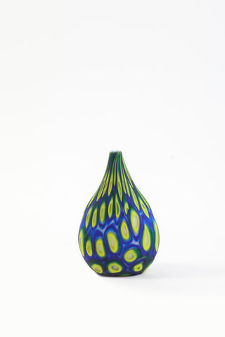 "Brien Strancar ""Flat"" Blown Glass Murrini Vase"