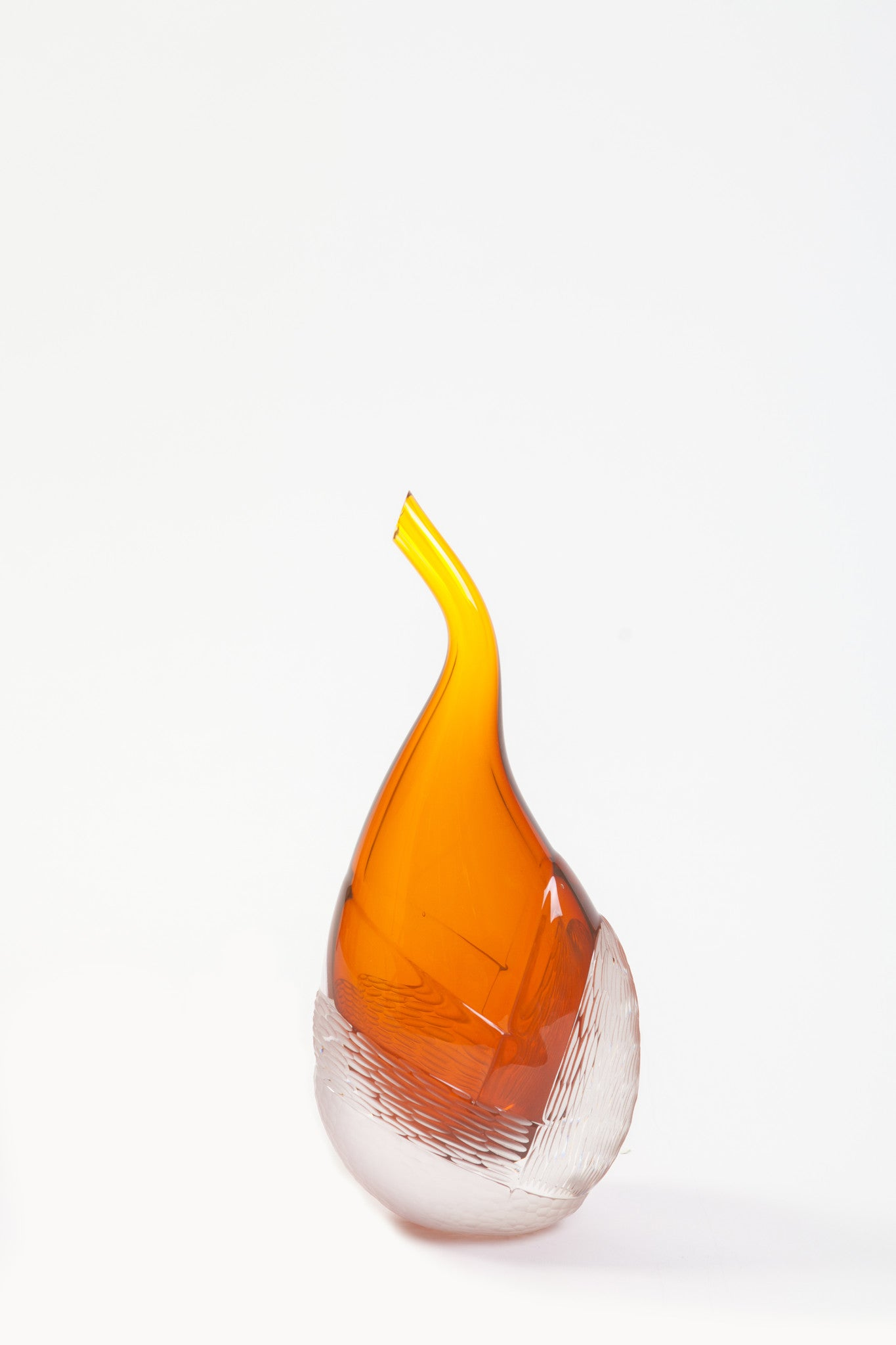 Brien Strancar Dipped and Cut Gold Wiggler Glass Sculpture (2013)