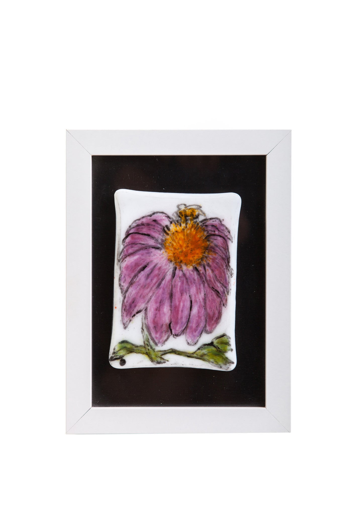 Odette Monaghan Fused Glass Echinacea Flower