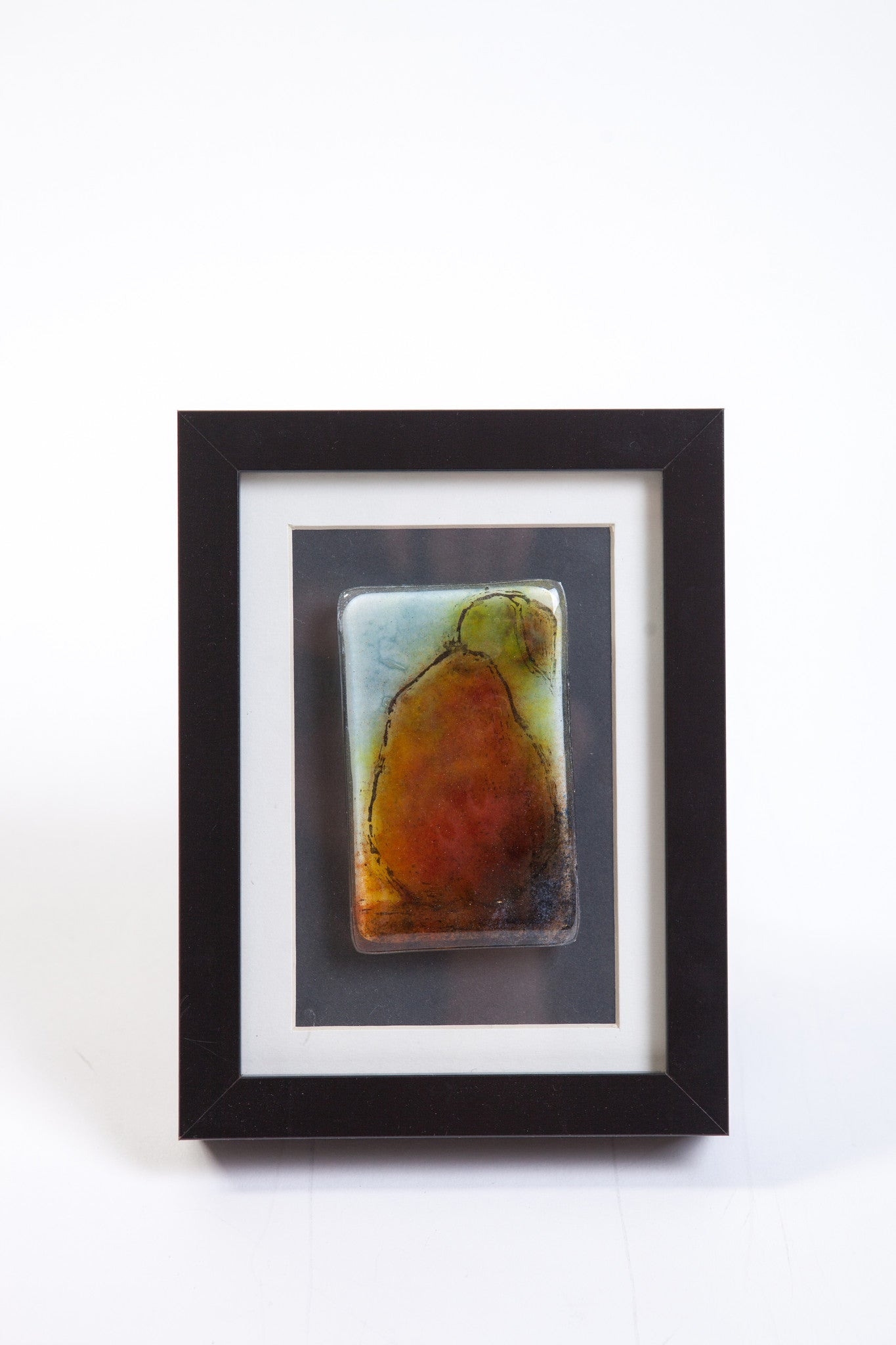 "Odette Monaghan ""Single Pear II"" Fused Glass Picture"