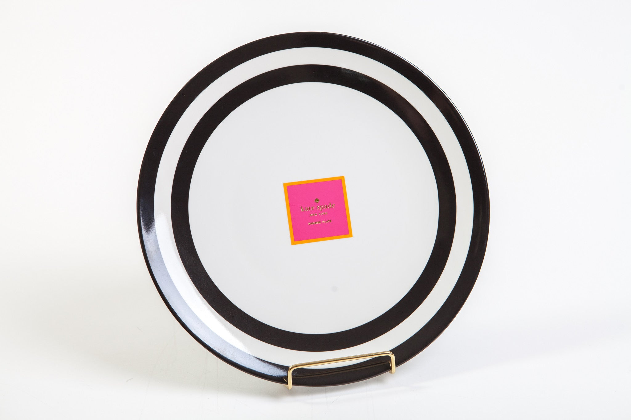 Kate Spade New York Black Stripe Dinner Plate