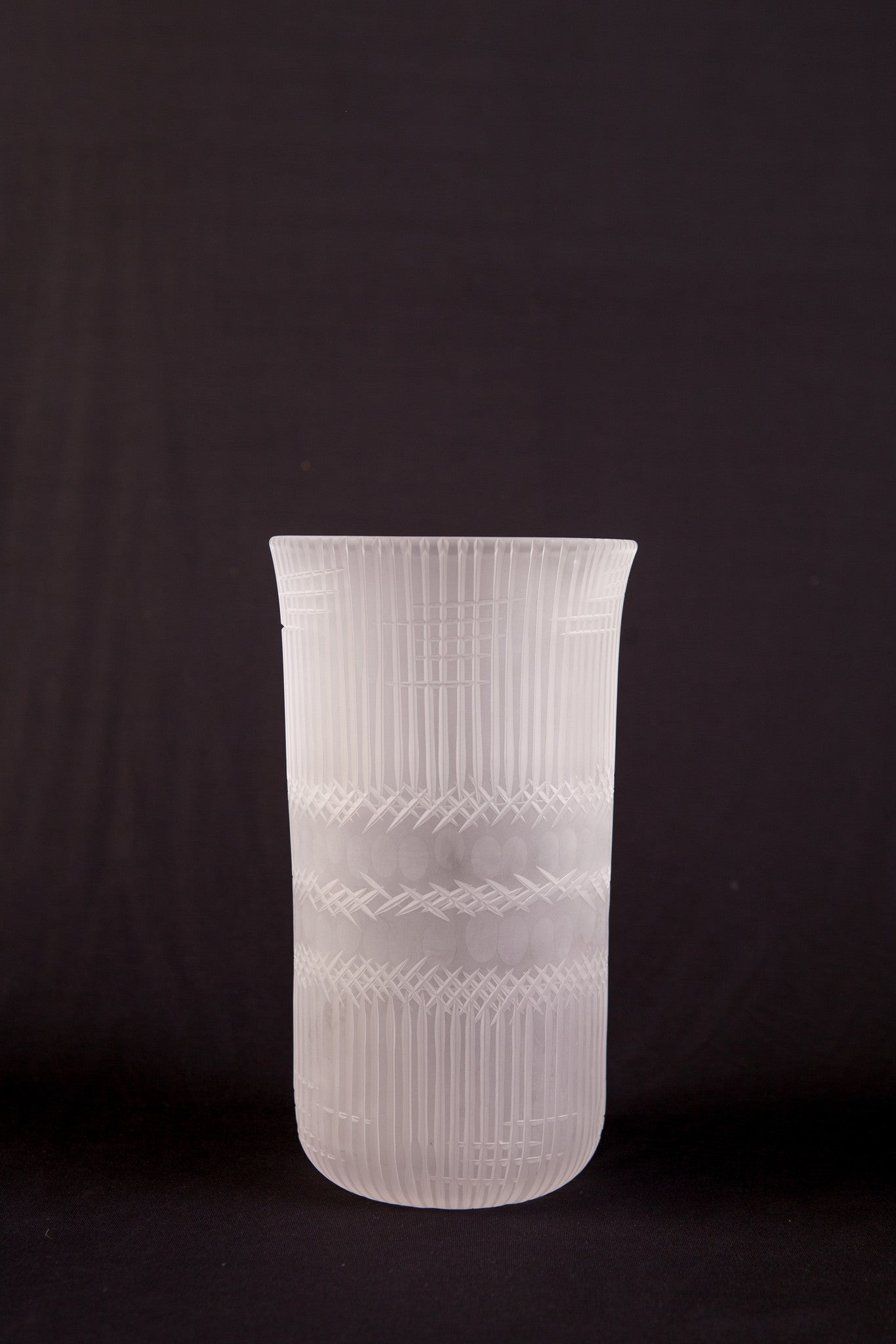 Brien Strancar Cut Glass Cylindrical Vase (Large)