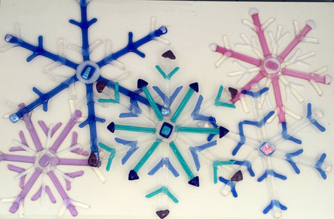 Kristen Dukat Large Fused Glass Snowflake