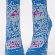BlueQ Women's Ankle Socks: Magic Is Totally Real
