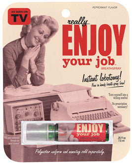 "BlueQ Breath Spray ""Really Enjoy Your Job"""