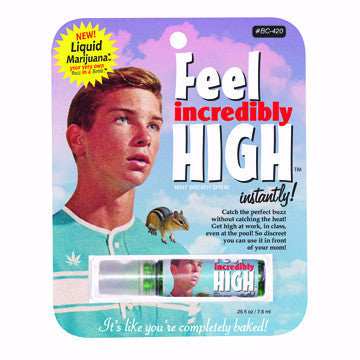 "BlueQ Breath Spray ""Feel Incredibly High Instantly"""