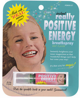 "BlueQ Breath Spray ""Instant Really Positive Energy"""
