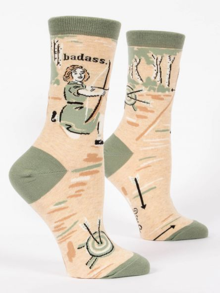 "BlueQ Women's Socks ""Badass"""
