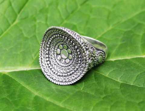 "Bali ""Kaya"" Sterling Silver Dish Fair Trade Ring"