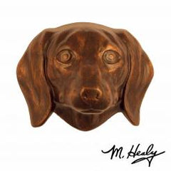 Michael Healy Door Knocker: Oiled Bronze Cast Aluminum Dog Knocker (Dachshund)