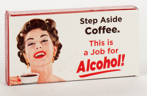 BlueQ Gum: Step Aside Coffee. This is a Job for Alcohol!