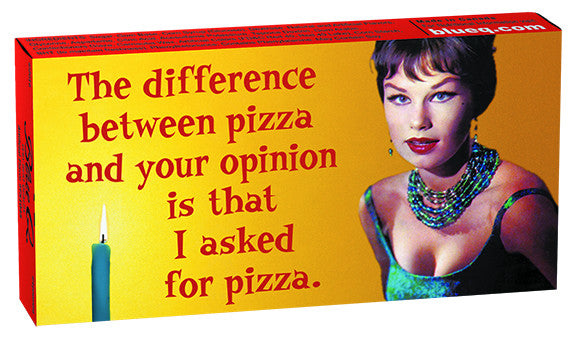 BlueQ Gum: The Difference Between Pizza and Your Opinion
