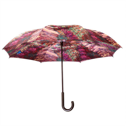 "Galleria Reverse Close Umbrella (Monet's ""Garden Path"")"