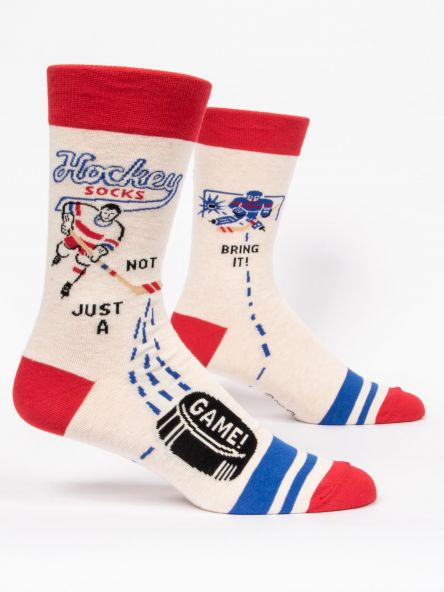 BlueQ Men's Crew Socks: Hockey Not Just A Game