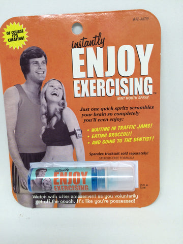 "BlueQ Breath Spray ""Instantly Enjoy Exercising"""
