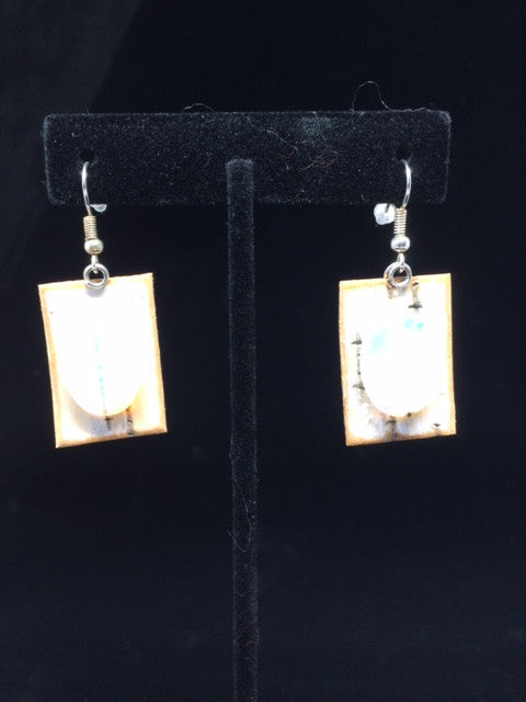 "Cory Newman Birch Bark Earrings ""Sticks & Stones"""