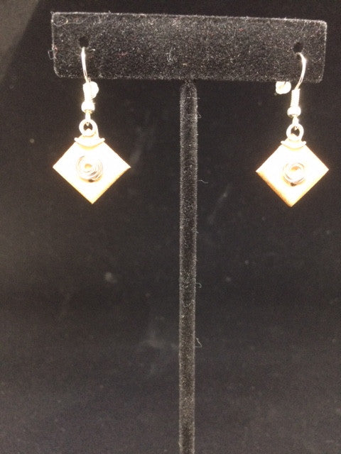 "Cory Newman Birch Bark Earrings ""Wind & Wood"""