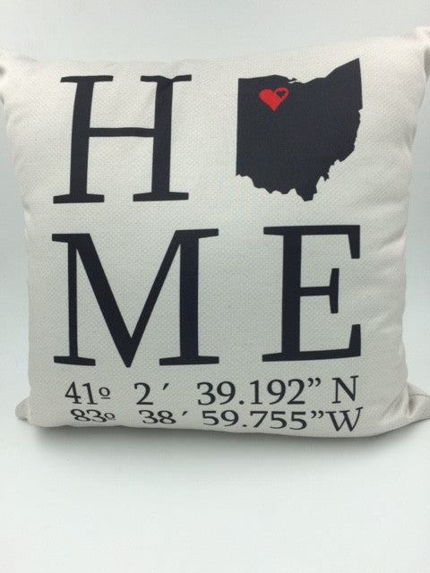 """Findlay, Ohio"" Decorative Throw Pillow"