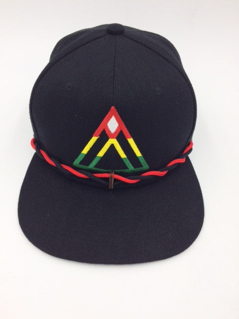 Findlay Baseball Cap: Four Color Triangle Design