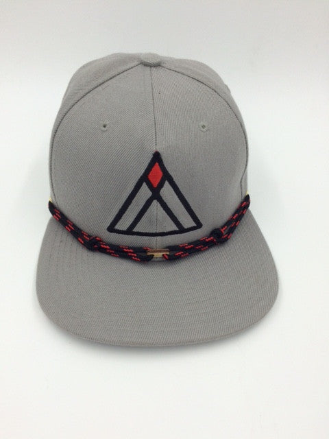 Findlay Baseball Cap: Red and Black Triangle Design