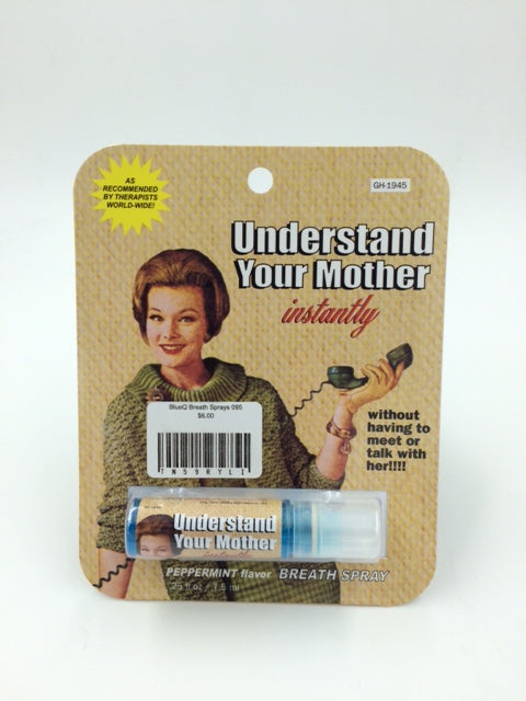 "BlueQ Breath Sprays ""Understand Your Mother Instantly"""