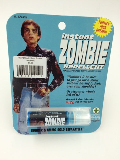 BlueQ Breath Spray: Instant Zombie Repellent