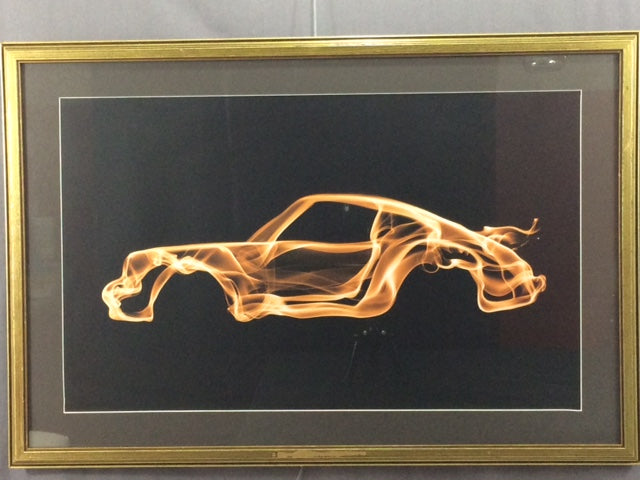 Octavian Mielu Porsche 911 Turbo Fantasy Car Framed Print
