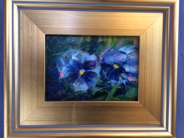"Kim Greene ""Pansies"" Oil Painting"