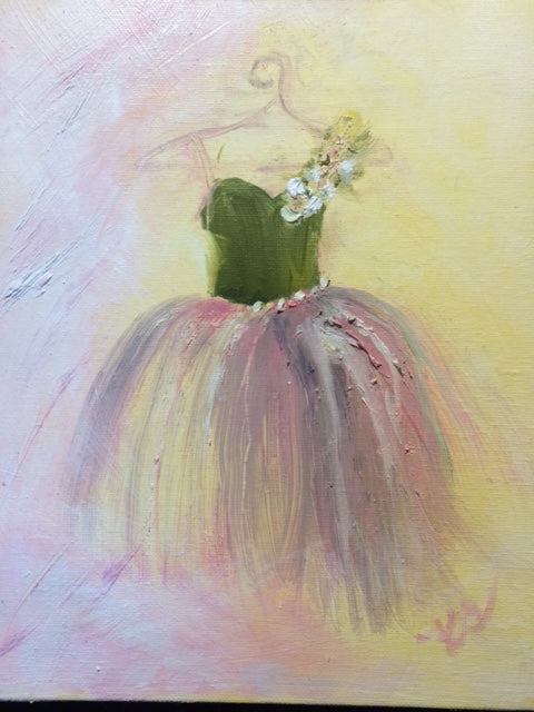 "Kim Greene ""Ballet I"" Oil Painting"