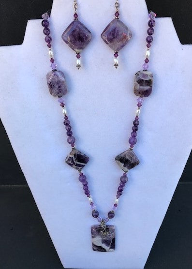Kimberly Vaughn Amethyst Necklace & Earring Set