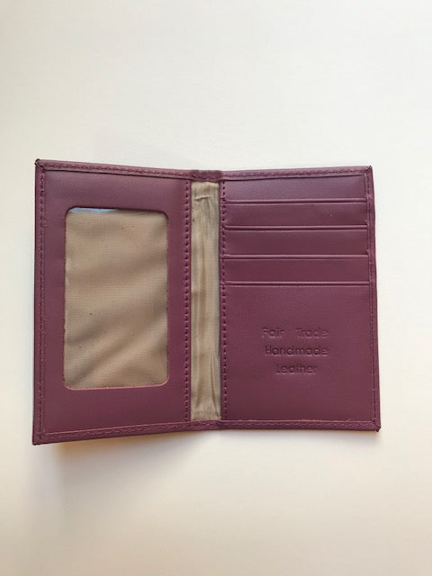 Fair Trade Leather Bi-Fold Card Wallet