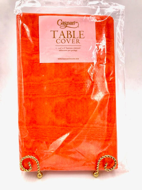 Caspari Moire Orange Table Cover